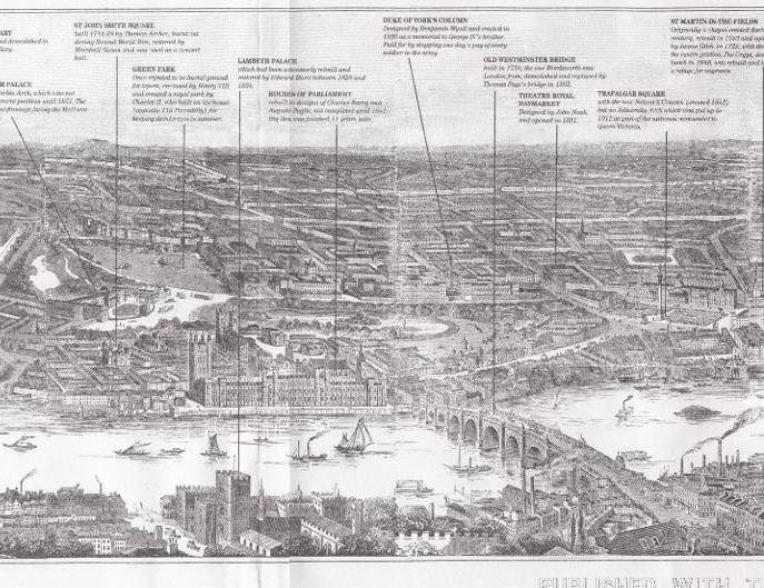 Illustrated London News - London Panorama 1845 detail